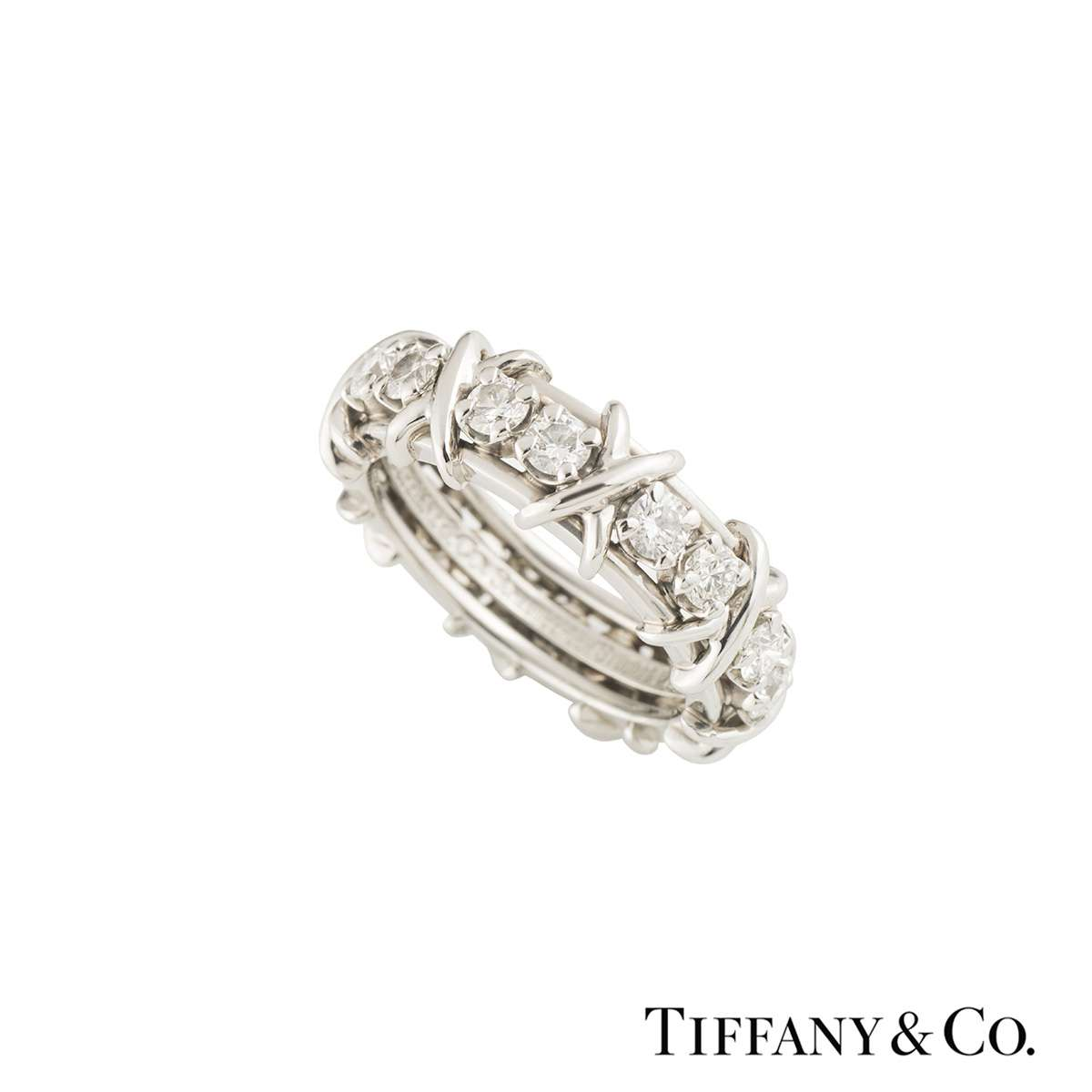 Tiffany & Co. Diamond Schlumberger Ring 1.14ct